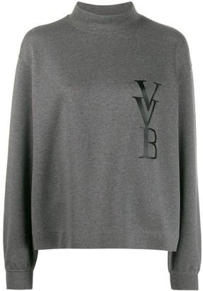 Victoria Victoria Beckham logo-print funnel-neck jumper