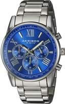 Akribos XXIV Men's AK865SSBU Round Dial Chronograph Quartz Bracelet Watch