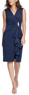 Jessica Howard Surplice Sheath Dress