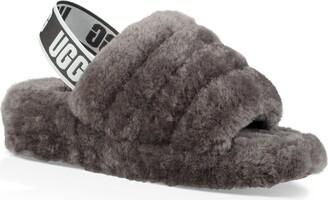 UGG Fluff Yeah Genuine Shearling Slingback Sandal