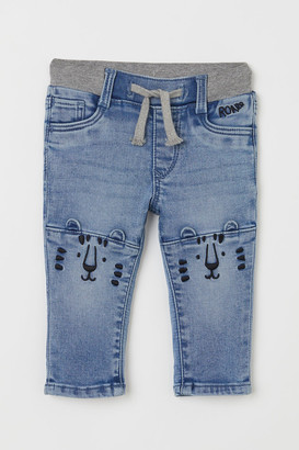 H&M Straight Fit Pull-on Jeans - Blue