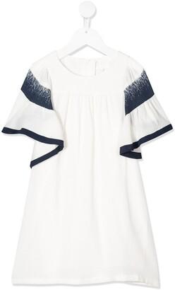 Chloé Kids Ruffled Sleeve Dress