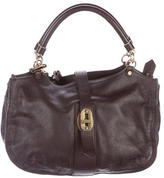 Burberry Pebbled Leather Satchel