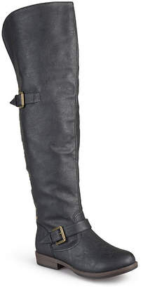 Journee Collection Womens Kane Wide Calf Over-the-Knee Riding Boots