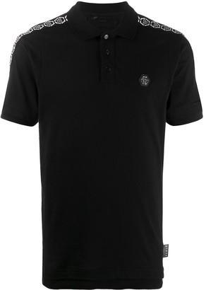 Philipp Plein Hexagon Panelled Polo Shirt