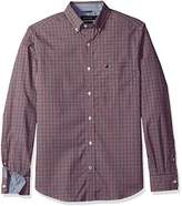Nautica Men's Standard Long Sleeve Check Plaid Button Down Shirt