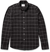 Steven Alan Button-down Collar Windowpane-checked Brushed-cotton Shirt