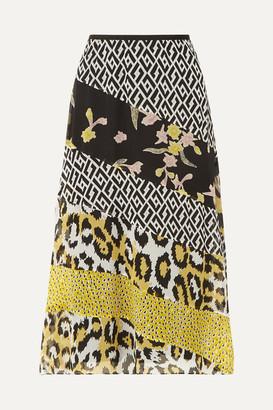 Diane von Furstenberg Darcie Printed Silk-chiffon Midi Skirt - Yellow