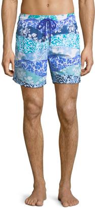 Vilebrequin Men's Moorea Vagues Heritage Swim Trunks