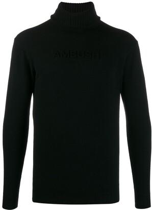 Ambush Embossed-Logo Roll-Neck Jumper