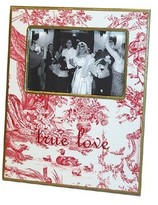 The Well Appointed House Red Toile Decoupage Frame-Can Be Personalized