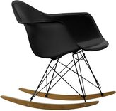 Charles and Ray Eames Replica Gliders and Rockers Replica Eames RAR Rocking Chair, Black