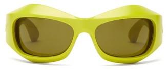 Bottega Veneta Mask Acetate Sunglasses - Green