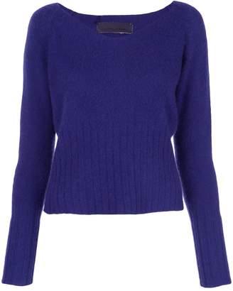 The Elder Statesman knit wide V-neck sweater