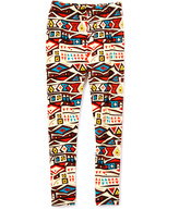 Beary Basics Red & Yellow Fall Geo Leggings - Toddler & Girls