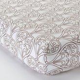 Bacati Damask White and Chocolate Crib Fitted Sheet