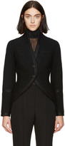 Givenchy Black Boiled Wool Tail Coat