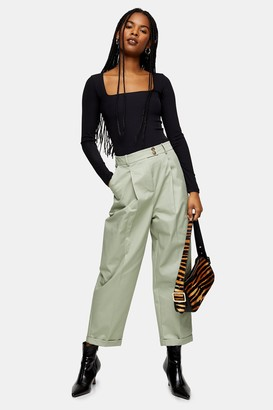 Topshop Chino Pants With Roll Hem