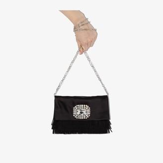 Jimmy Choo Black Titania Satin Clutch Bag