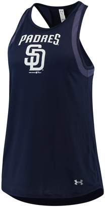 Under Armour Women's Navy San Diego Padres Pointelle Mesh Performance Tank Top