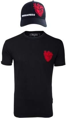 DSQUARED2 Black Cotton T-shirts