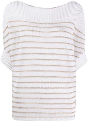 Lorena Antoniazzi Striped Crocheted Top