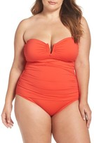 Tommy Bahama Plus Size Women's 'Pearl' Convertible One-Piece Swimsuit
