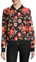 Alexia Admor Allover-Embroidered Bomber Jacket, Multi