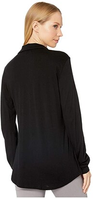 Michael Stars Ultra Jersey Harley Long Sleeve Knit Shirting