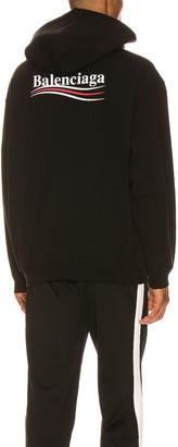 Balenciaga Medium Fit Hoodie in Black   FWRD