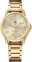 Tommy Hilfiger Women's Casual Sport Gold-Tone Stainless Steel Bracelet Watch 36mm 1781656