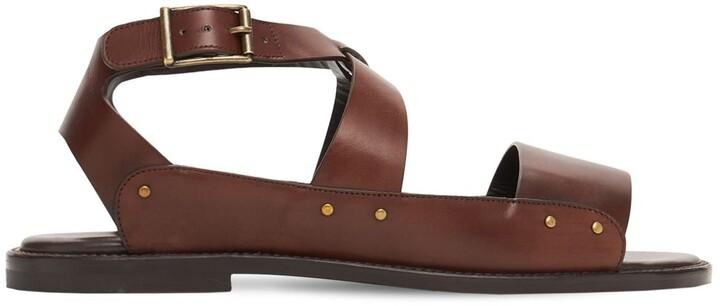 Manolo Blahnik Halias Leather Sandals