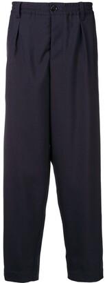 Marni darted tropical wool trousers