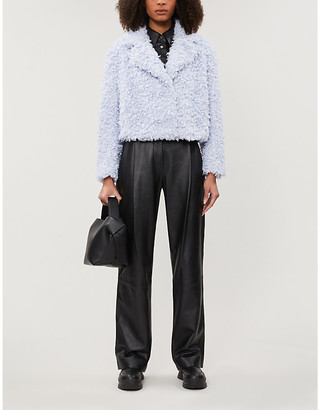 Stand Janet cropped faux-fur jacket