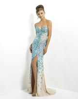 Blush Lingerie Strapless Long Dress with Slit 9793