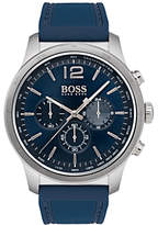 HUGO BOSS 1513526 Professional Chronograph Men's Rubber Strap Watch. Blue/Silver