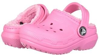 Crocs Classic Lined Clog (Toddler/Little Kid) (Pink Lemonade/Pink Lemonade) Girl's Shoes