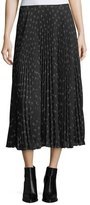 Vince Ditsy-Floral Pleated Maxi Skirt