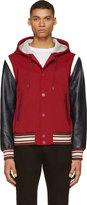 Red Techno Varisy Jacket