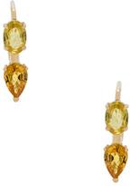 Ileana Makri Oval & Pear Earrings in Metallics.