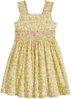 Bonnie Jean Smocked-Waist Floral-Print Dress, Little Girls