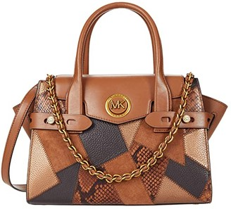 MICHAEL Michael Kors Carmen Small Flap Satchel (Luggage Multi) Handbags