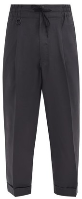 Y-3 Turned-up Cuff Ripstop Tapered Track Pants - Dark Grey