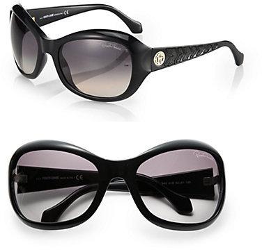Roberto Cavalli Oversize Acetate Sunglasses