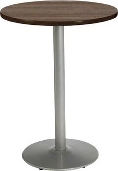 "KFI Studios Mode Round Multipurpose Table Top Finish: Studio Teak, Size: 41"" H x 30"" W x 30"" D, Base Finish: Silver"