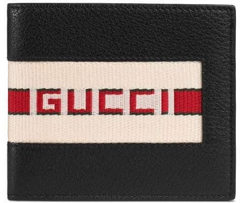 Gucci stripe leather wallet