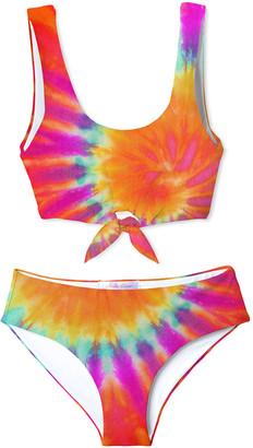Stella Cove Girl's Tie Dye Two-Piece Bikini, Size 4-14