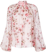 Giambattista Valli high neck floral blouse - women - Silk/Cotton/Polyester - 40