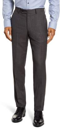 Ted Baker Johnson Flat Front Solid Wool Dress Pants