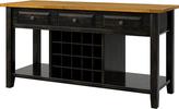 Black Belle Oak Buffet Server & Wine Rack